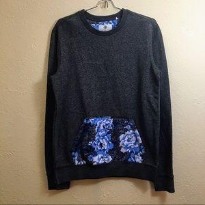 On the Byas Sweatshirt w/ Floral Patterned Pocket